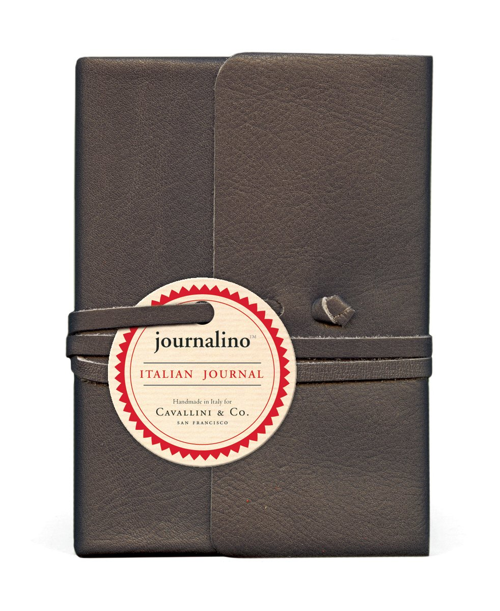 Cavallini Papers Journalino Leather Journal, 3.25 by 4.25-Inch, Persimmon Cavallini & Co. JNLSM/PER