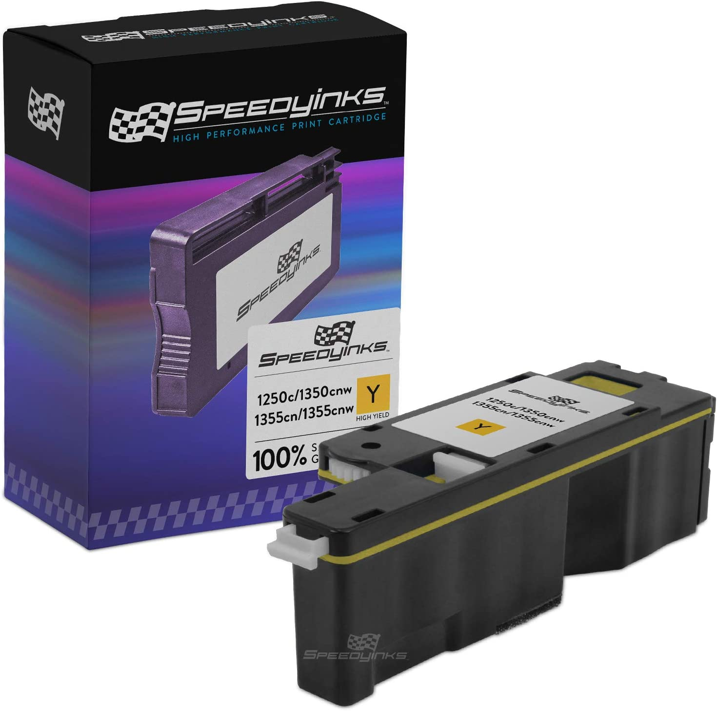 Speedy Inks Compatible Toner Cartridge Replacement for Dell 1250 | DG1TR (Yellow)