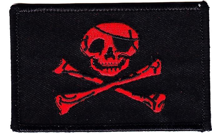 Amazon.com: pirate flag w skull & crossbones black w red jolly