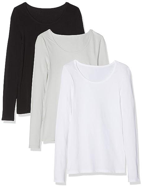 50c1e4ba3b3296 Maglev Essentials Bdx011m3 Magliette Donna, Multicolore (Black, White, Grey  Violet), 40 (Taglia Produttore: X-Small), Pacco da 3: Amazon.it:  Abbigliamento
