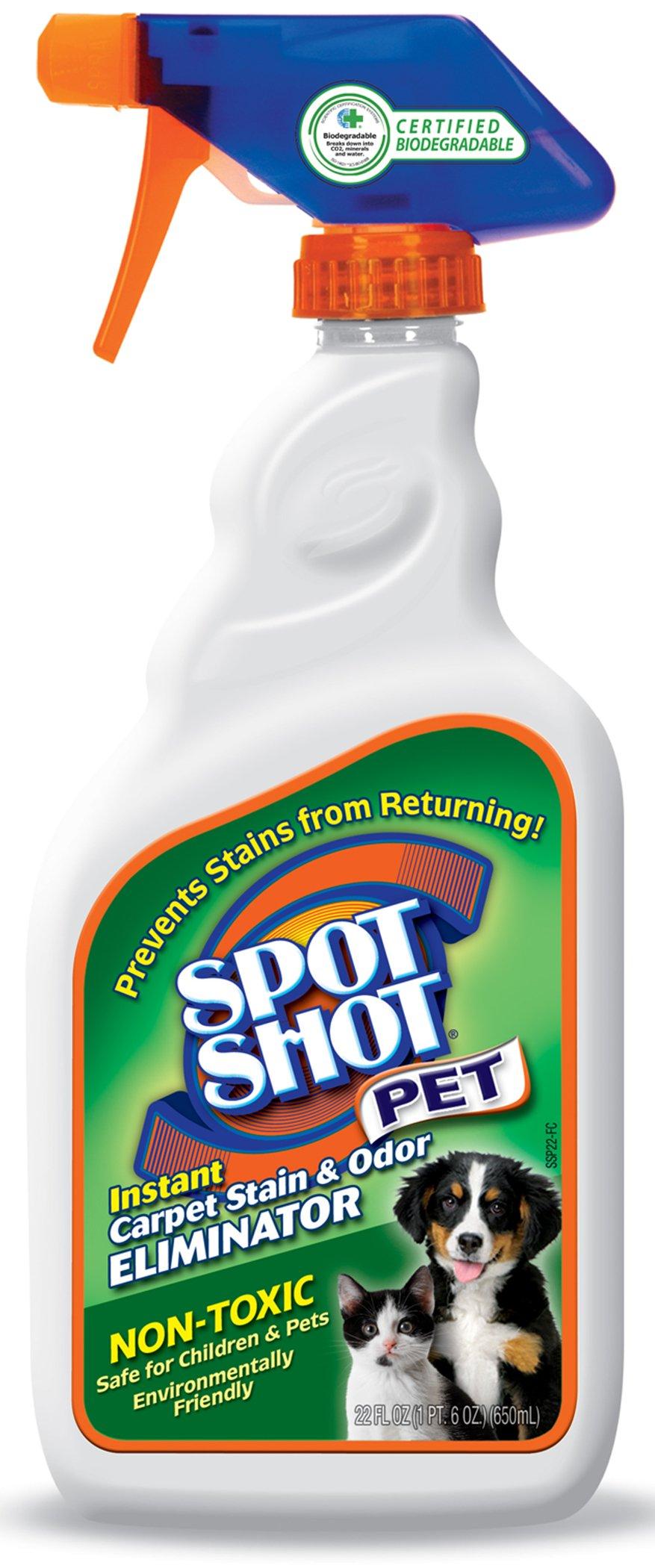 Spot Shot Pet Instant Carpet Stain & Odor Eliminator, 22 OZ [Non-Aerosol Trigger]