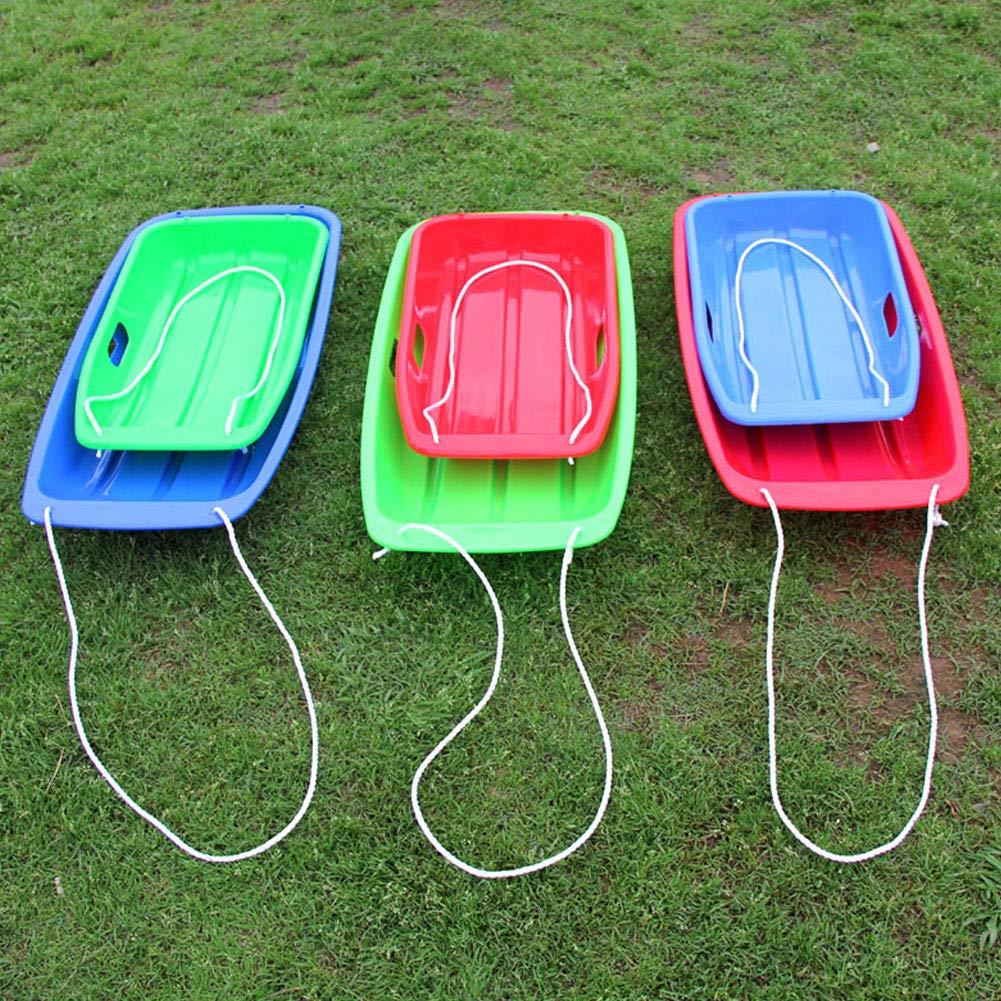 QIANGGAO Snow Sleds for Kids Outdoor Plastic Sport Toboggan