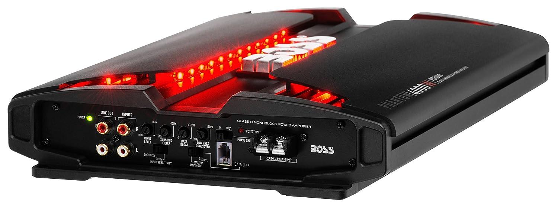 Boss Audio Pd4000 Phantom 4000 Watt 1 2 4 Ohm Stable Sra5002 500w Channel Car Power Amplifier Amp 8 Gauge Wiring Kit Class D Monoblock With Remote Subwoofer Control Electronics