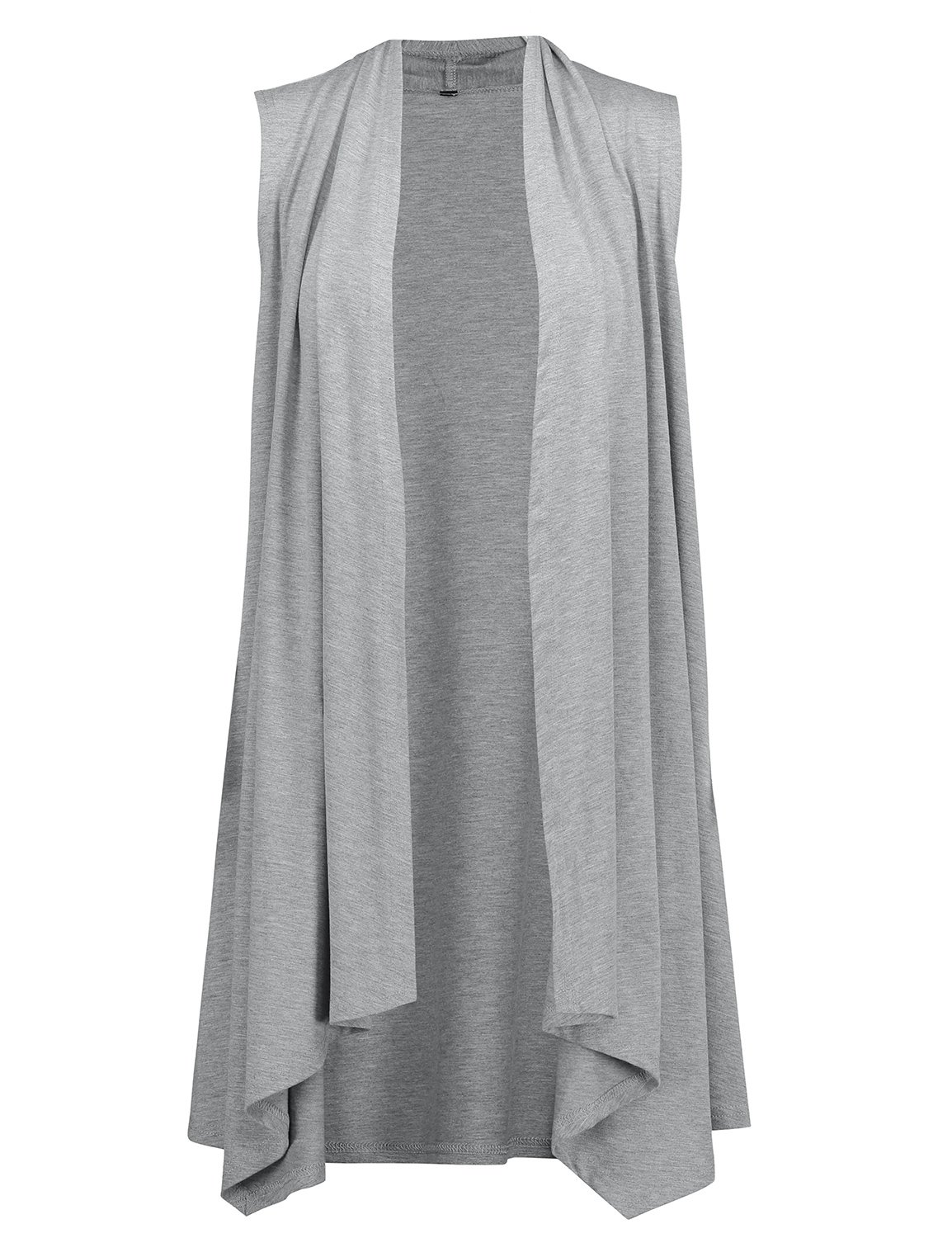 ZAN.STYLE Women's Summer Lightweight Sleeveless Cardigan Vest Open Front Drape Long Vest Cardigan