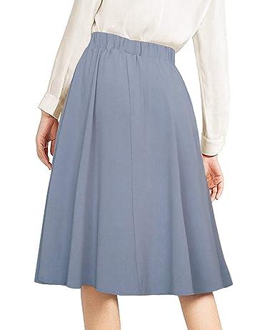 Afibi Mujer Alto Waisted Una Línea Falda Midi Plisada Faldas Delanteras con  Botones y Bolsillo  Amazon.es  Ropa y accesorios 5f56dfa32f4e