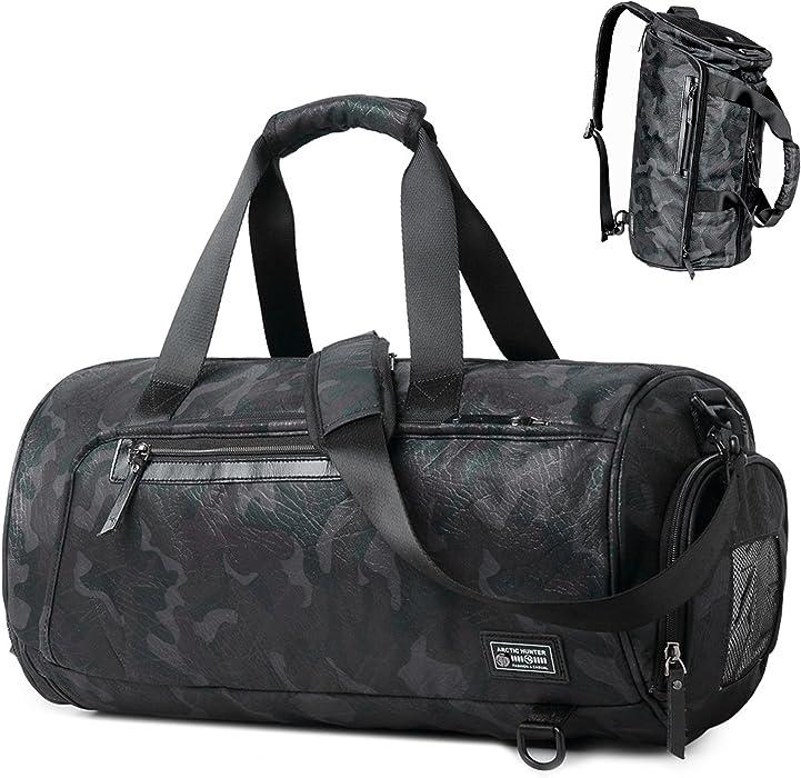 BLUBOON Bolsa de deporte gimnasio bolsa de viaje mochila para mujeres y hombres de la noche
