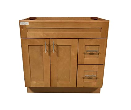 new maple shaker single sink bathroom vanity base cabinet 36 wide x rh amazon com maple bathroom vanity with drawers maple bathroom vanity 48