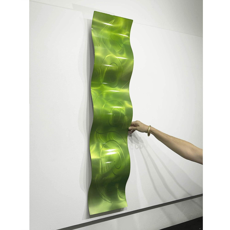Mar Wave 46 x 10 Statements2000 3D Abstract Metal Wall Art Accent Sculpture Modern Aqua Blue Decor by Jon Allen
