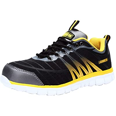LARNMERN Steel Toe Shoes Men Lightweight Indestructible Safety Work Breathable Sneakers L9106: Shoes