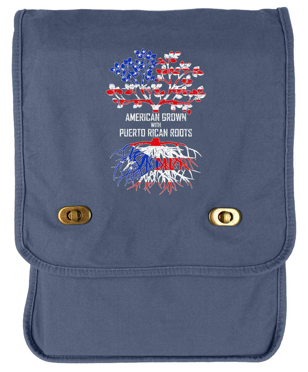 Tenacitee American Grown with Puerto Rican Roots Green Brushed Canvas Messenger Bag