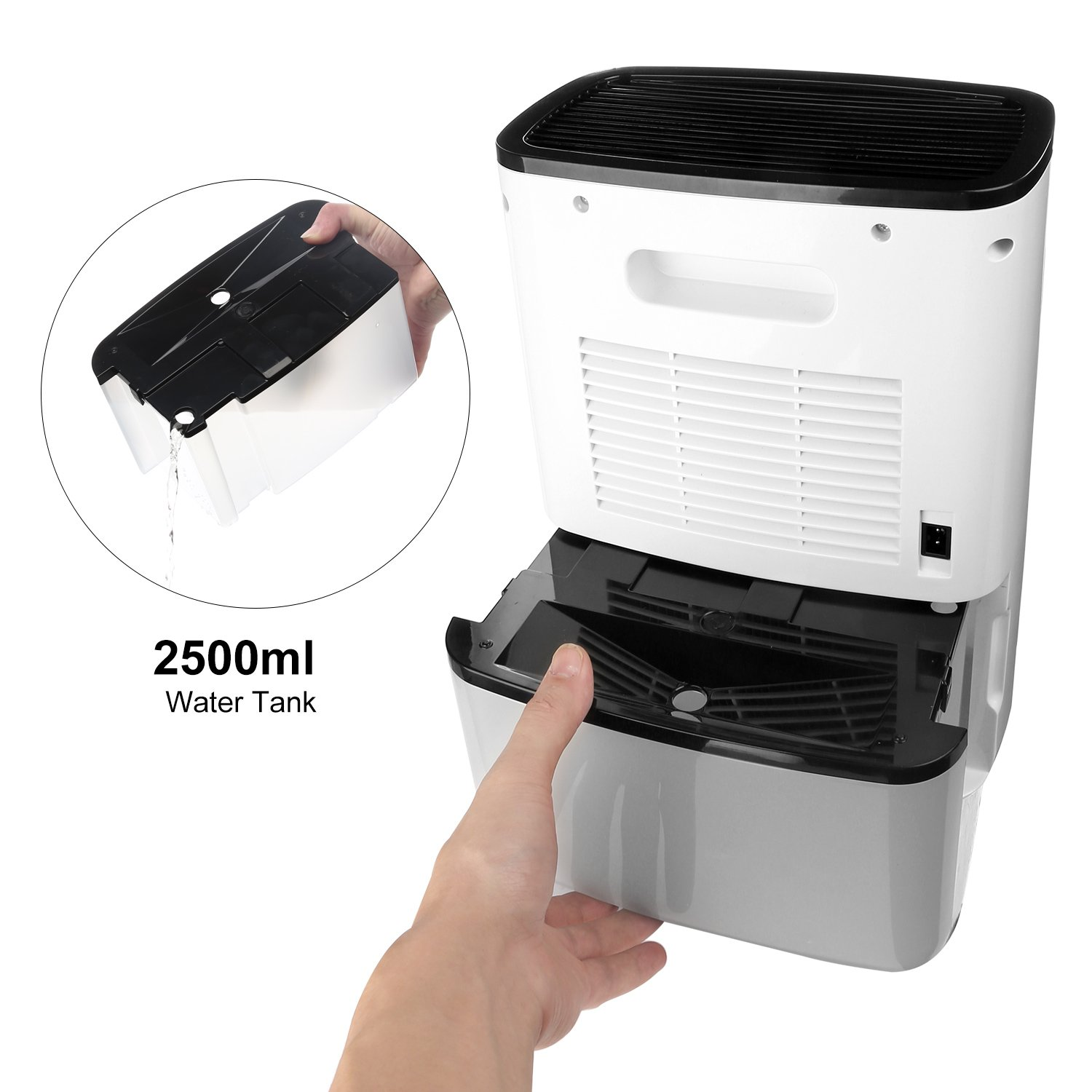LUOYIMAN Dehumidifier Electric Home Dehumidifier Quiet Operation with UV Sterilization (2.5 Liter) by LUOYIMAN (Image #3)