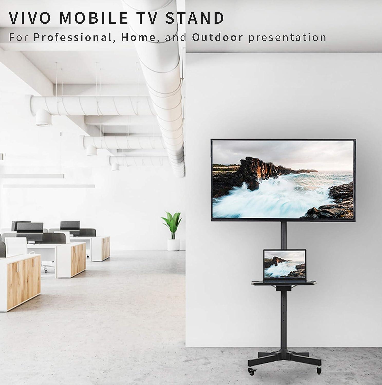 Vivo Mobile TV carrito para LCD LED Plasma de pantalla plana Panel soporte de suelo carro con ruedas de bloqueo   se adapta a 23