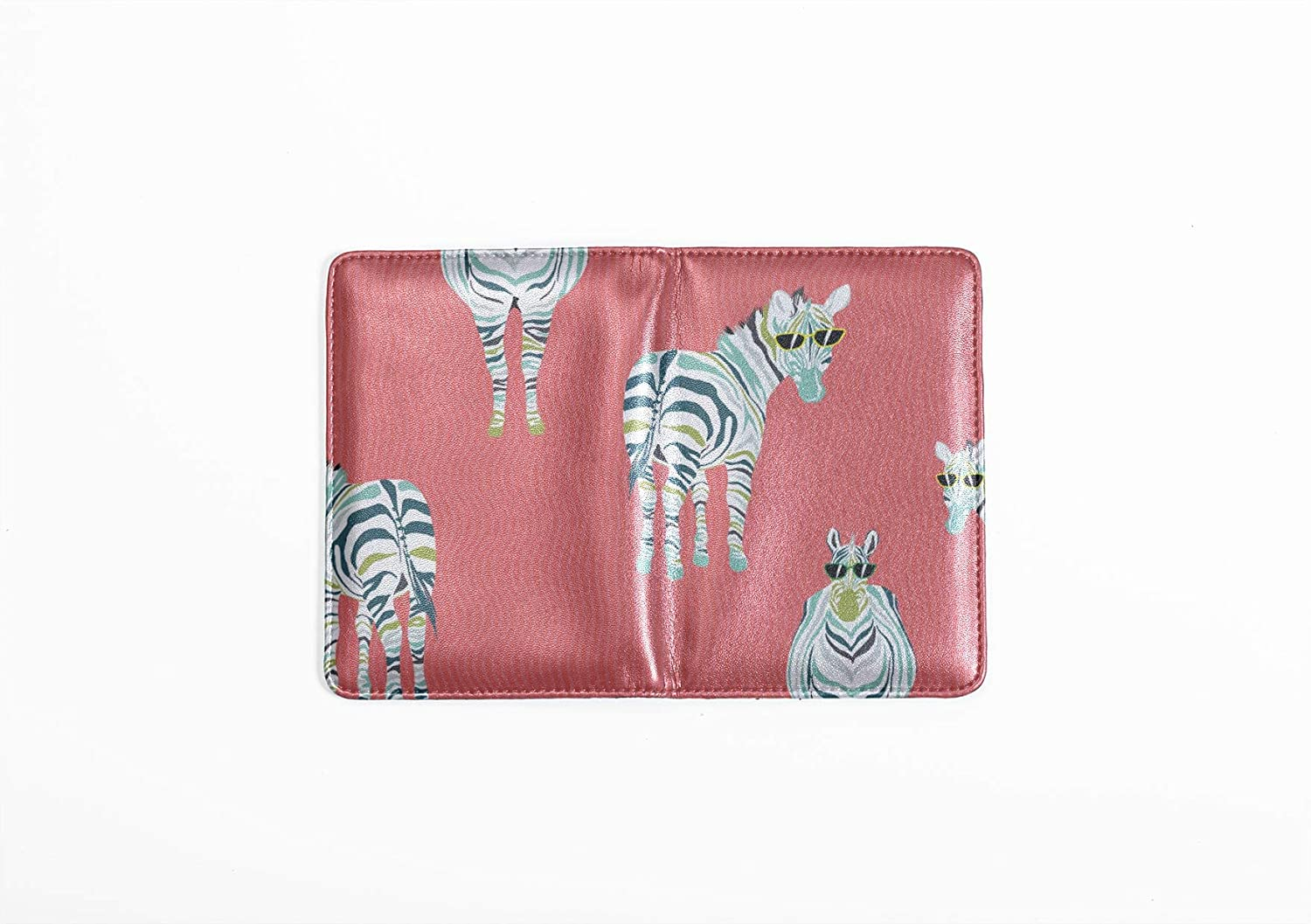 Leather Passport Holder Cover Case Cute Carton Little Zebra Animal Stylish Pu Leather Travel Accessories Passport Cover Women For Women Men