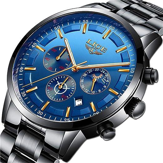 Amazon.com: LIGE - Reloj de pulsera para hombre, resistente ...