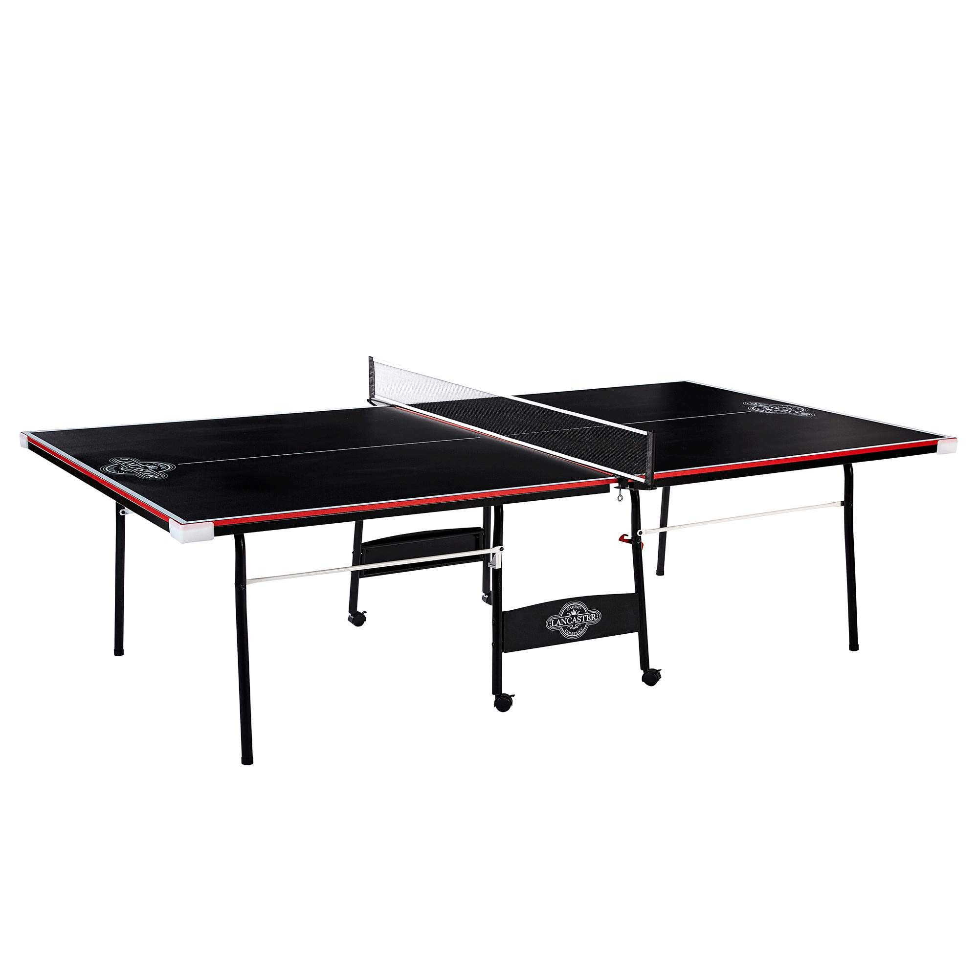 Lancaster 2 Piece Official Size Indoor Folding Table Tennis Ping Pong Game Table by Lancaster Gaming Company