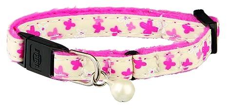 Trixie 41864 - Collar para pequeños gatos y gatitos, brilla en la oscuridad, colores