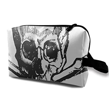 32847879c4da Amazon.com : Makeup Bag Skull And Cross Bones Portable Travel ...