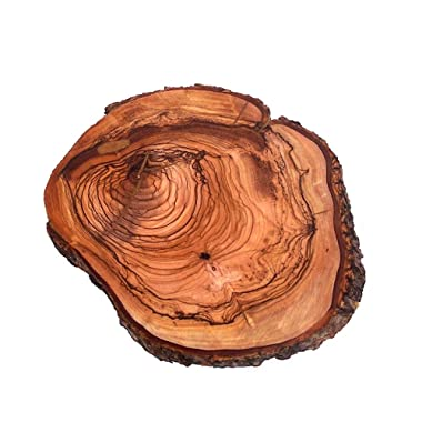 Holy Land Market Hand Carved Olive Wood Trivet for Hot plate (5.5-7 Inches) - Asfour Outlet Trademark