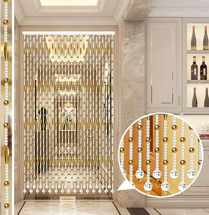 GuoWei-Cortinas de Cuentas Cristal Vaso Puerta Colgante Cuerdas Decoración Tabique Dormitorio Salón Moderno, Personalizable (Color : A, Size : 40 strands-100x150cm): Amazon.es: Hogar
