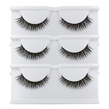 f8ceb73a7b9 BEPHOLAN False Lashes 3 Pairs 3D Mink Eyelashes for Makeup Soft Fake  Eyelashes Natural Look Reusable