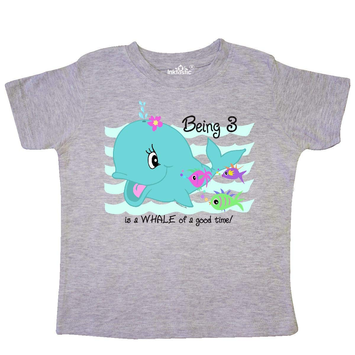 inktastic Whale 3rd Birthday Toddler T-Shirt