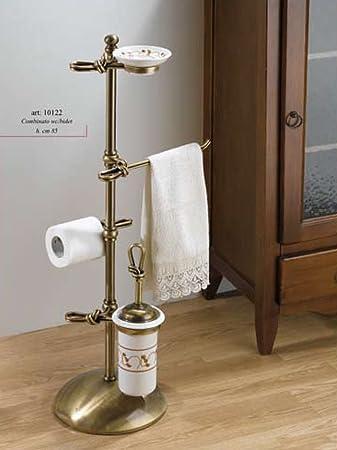 porta asciugamani h85 cm ottone brunito ceramica accessori arredo bagno tenda tendaggi
