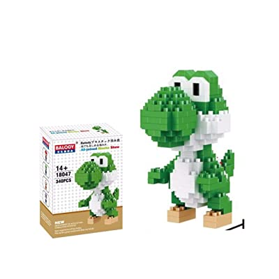 Balody Yoshy Monster Figure Mini Building Block Toy(340pcs): Toys & Games