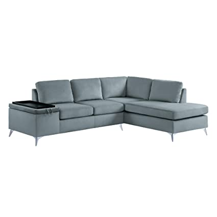 Amazon.com: Homelegance 9847 Reversible Sectional Sofa with Storage ...