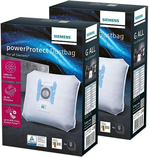 BSH Hausgeräte 8 Bolsas de Aspiradora para Siemens VZ41FGALL, Bosch BBZ41FGALL, Bosch BBZ41FG, 468383: Amazon.es: Hogar