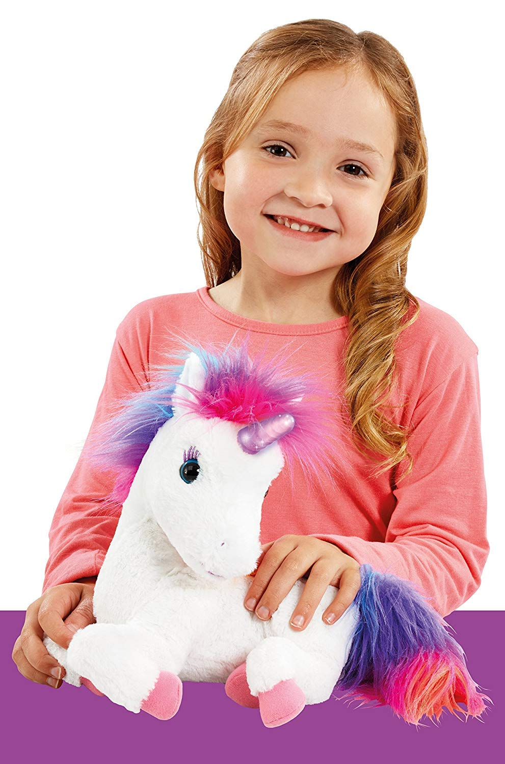 AniMagic Rainbow - My Glowing Unicorn, a Soft Unicorn Plush Toy with Glowing Horn and Unicorn Sounds 5