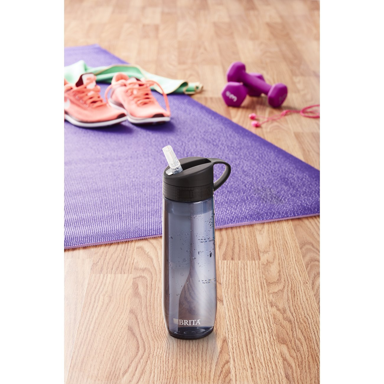 Brita 23.7 Ounce Hard Sided Water Bottle with Filter - BPA Free - Gray by Brita (Image #8)
