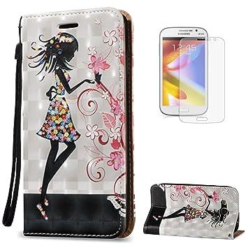 KaseHome Compatible For Samsung Galaxy Grand Neo Plus i9060/i9082 Wallet Funda PU Leather Cuero Piel Caso Función De Soporte Billetera con Tapa Libro ...