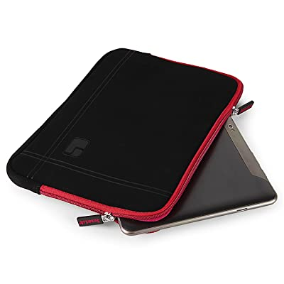 10.1 Inch Tablet Sleeve Laptop Pouch Cover Carrying Case Briefcase 10.1 Inch for Samsung Galaxy Tab A SM-T580 / Tab S3 / Huawei MediaPad M2 / MediaPad T1 10 / MediaPad 10 Link (Black/Red)