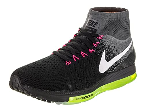 092585eea80a Nike Men s Zoom All Out Black Flyknit Running Shoes 9.5