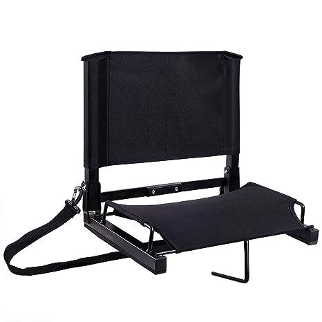 Ohuhu Stadium Seats Bleacher Seat Chairs With Backs And Cushion Folding Portable Bonus Shoulder Straps