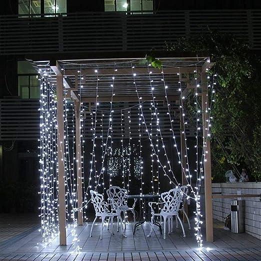 En Luz de Navidad 800LED impermeable boda hadas de la secuencia Partido al aire de cortina de luz de Navidad Decoración 220V 8Mx3M (Color : Pink): Amazon.es: Iluminación