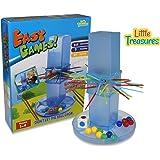LITTLE TREASURES Easy Game Fun Plunk Marble Game, Fun Family Plunk Play Set