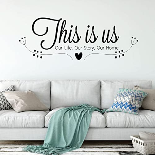 Pleasing Family Wall Decal This Is Us Our Life Our Story Our Home Vinyl Art For Living Room Bedroom Or Home Decor Beatyapartments Chair Design Images Beatyapartmentscom