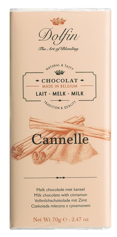 Dolfin Chocolate con Leche a la Canela de Ceylán - 5 Paquetes de 1 x 70 gr - Total: 350 gr: Amazon.es: Alimentación y bebidas