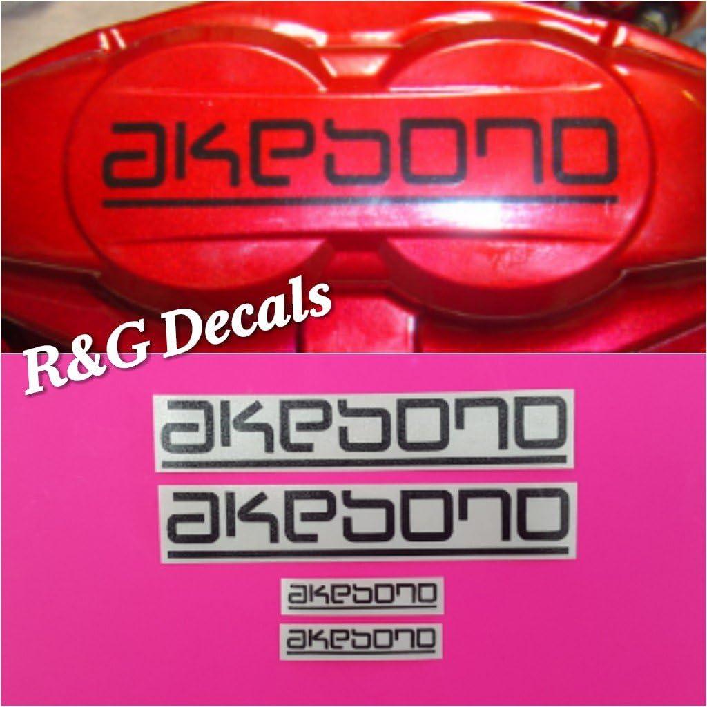 AKEBONO Brake Caliper HI-Temp Vinyl Decal Stickers Set of 4 ~Any Color~
