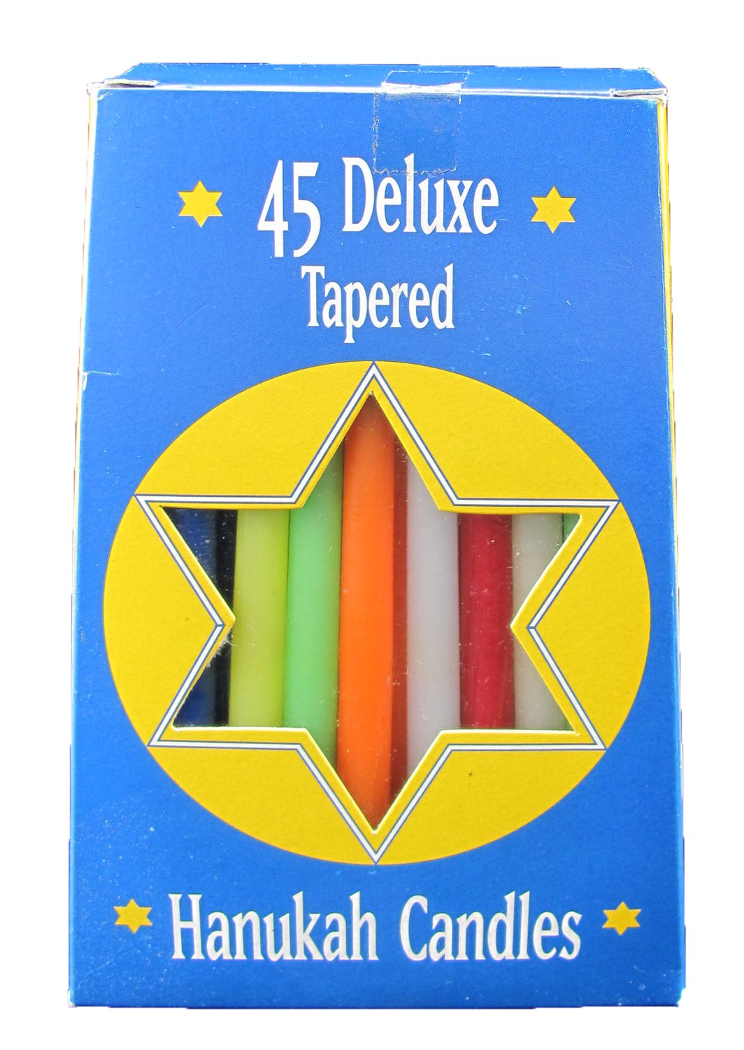 Deluxe Hand-Dipped Multi-Color Hanukah Candles, Set of 45 Biedermann & Sons C1225MT