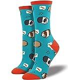 Socksmith Womens' Novelty Crew Socks Guinea Pigs - 1 pair (Turquoise)