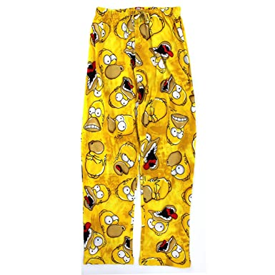 a5bb653e6c The Simpsons Homer Mens Cotton Pajama Pants (XL, Yellow Faces) at ...