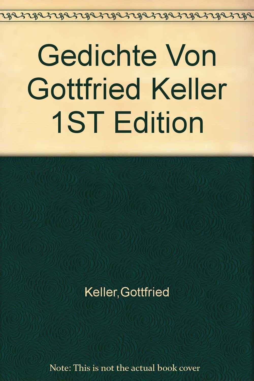 Gedichte Von Gottfried Keller 1st Edition Gottfried Keller