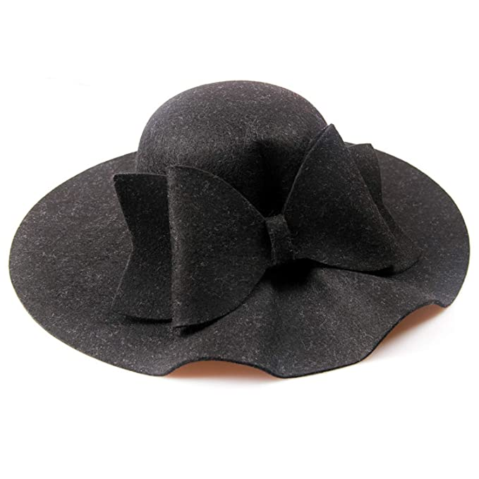 Image Unavailable. Image not available for. Color  New Australia Wool Felt  Hat England Women Fedora Hat Wide Brim Hats ... 5f1a9e476f8a