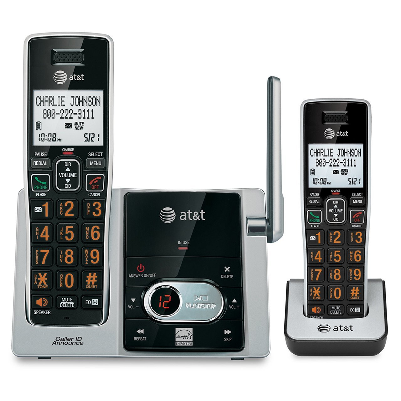 amazon com att cl82213 dect 6 0 expandable cordless phone system rh amazon com at&t wireless home phone manual Manual Four Handsets AT&T Phones