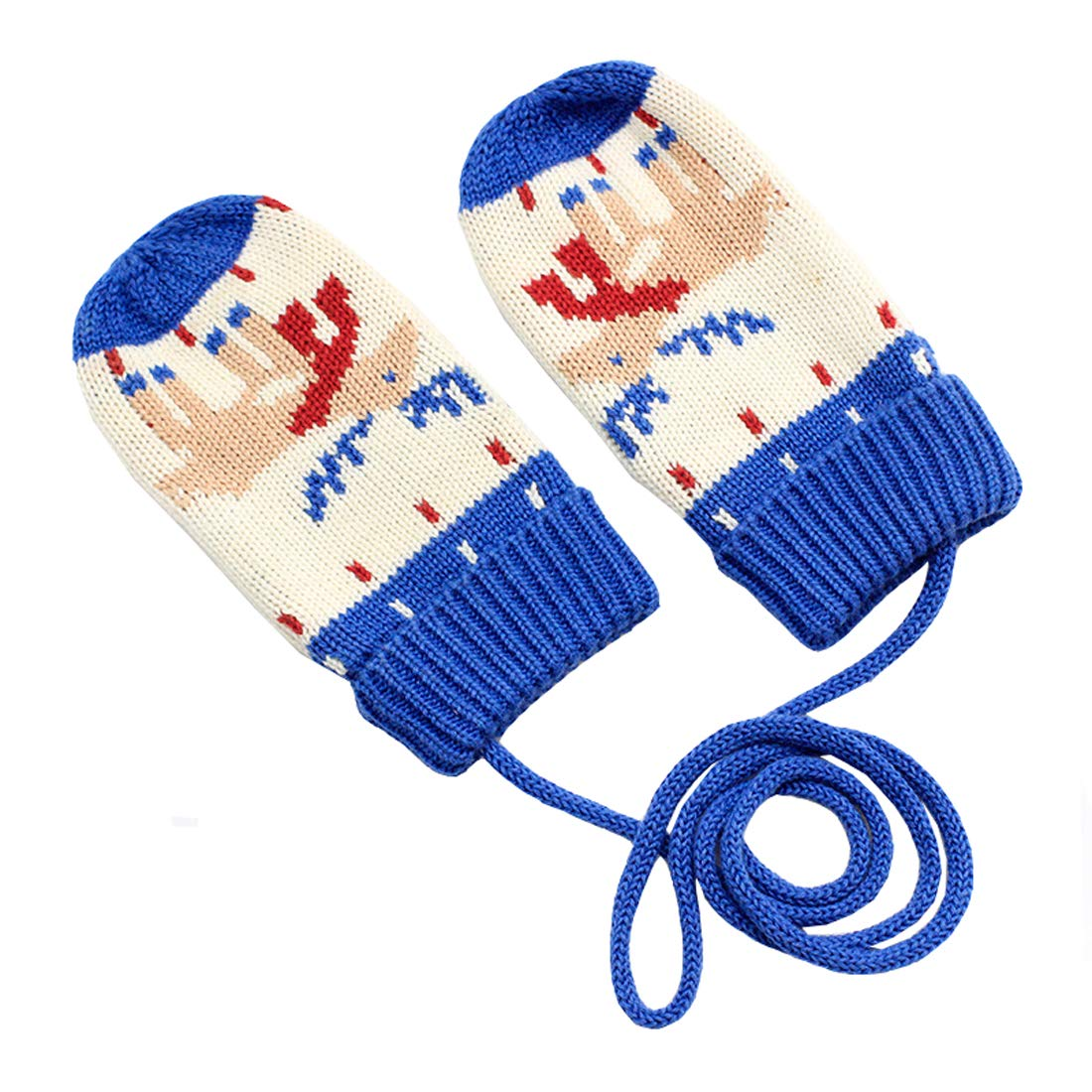ACVIP Little Boys Knit Cartton Octpus Stringed Cold Weather Mittens