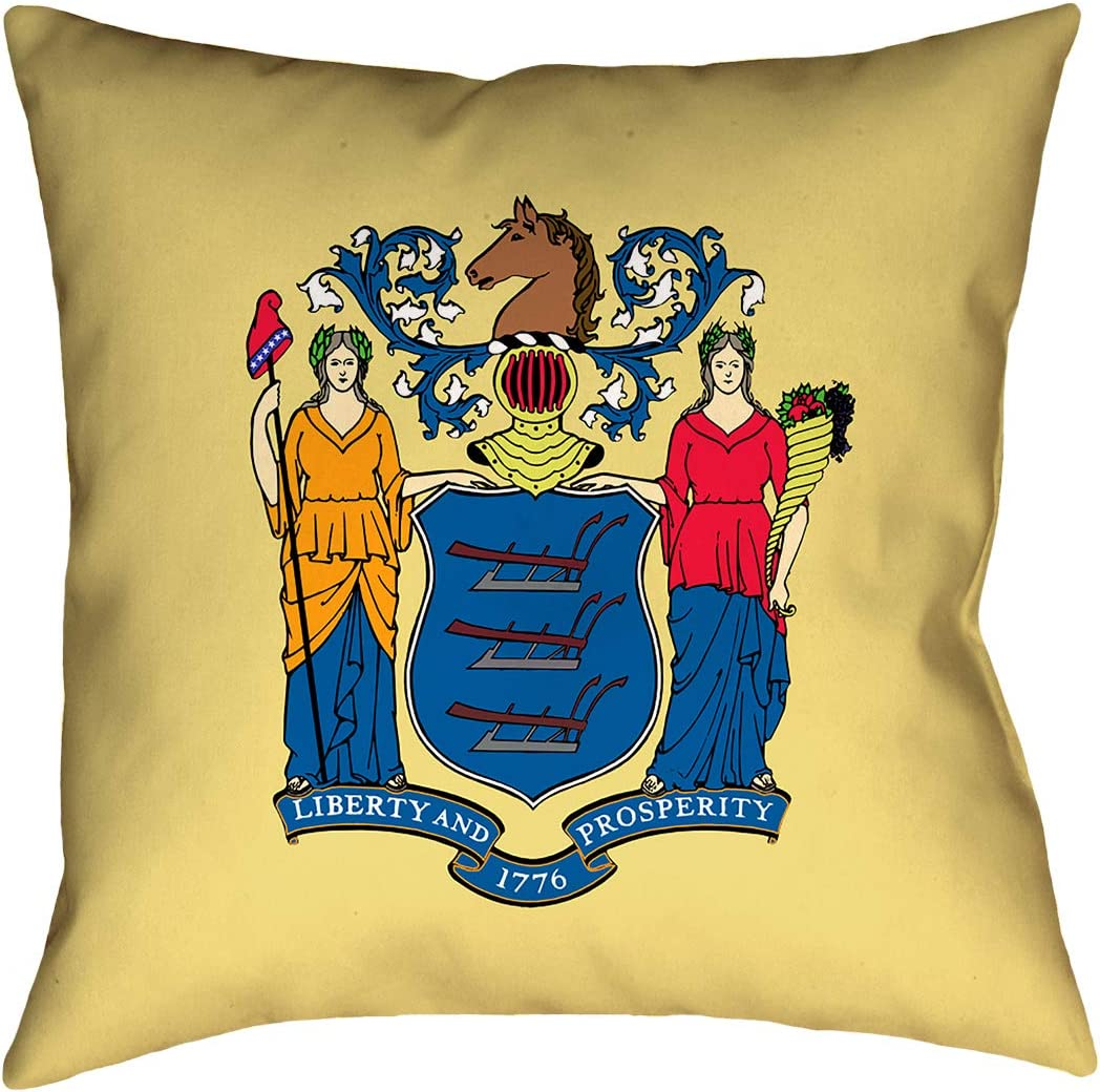 ArtVerse Katelyn Smith 16 x 16 Spun Polyester Double Sided Print with Concealed Zipper /& Insert Maine Love Pillow