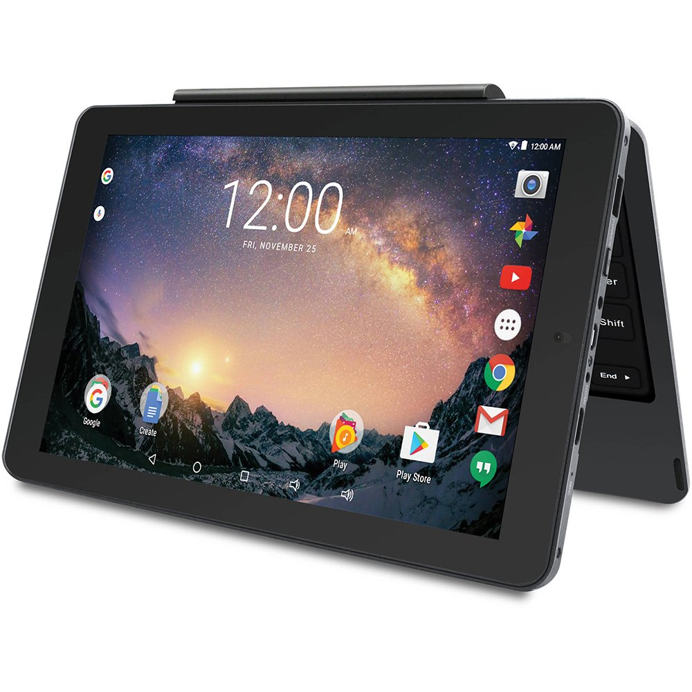 2018 Newest Premium High Performance RCA Galileo 11.5'' 2-in-1 Touchscreen Tablet PC Intel Quad-Core Processor 1GB RAM 32GB Hard Drive Webcam Wifi Bluetooth Android 6.0-Black by RCA (Image #3)