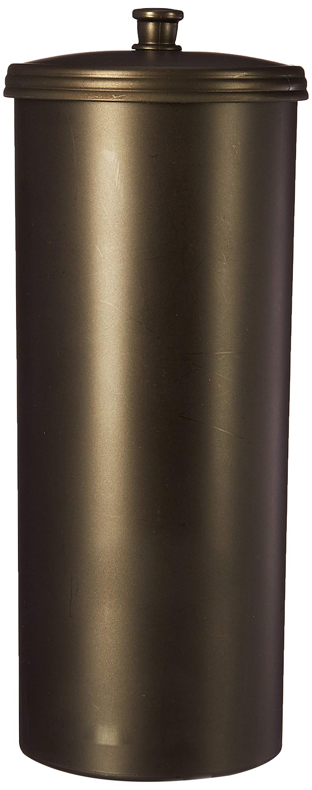 iDesign Kent Plastic Toilet Tissue Roll Reserve Organizer for Bathroom, Vertical Free Standing Compact Organizer, Holds 3 Rolls of Toilet Paper, Bronze by iDesign
